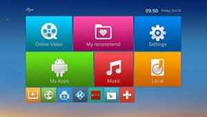 TICTID MAX Android TV Box Main Menu