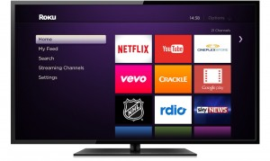 Roku Home Screen on TV screen