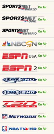 Free Live Sports List